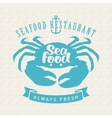 seafood shops with crab vector image