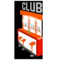 Club counter interior vector image
