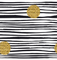 golden glitter dots grunge polka dots seamless vector image