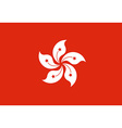 Hong Kong flag vector image