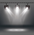 scene illumination effects with spotlights vector image