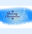 snowflake on blue background for christmas season vector image