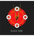 Sushi time vector image