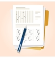 exams quiz test paper with pencil multiple choice vector image