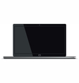 Laptop Front Horizontal View vector image