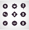 coffee logo design icon set vector image