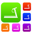treadmill set collection vector image