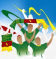 cameroonian crowd vector image