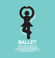 Single Ballet Graphic Black Symbol vector image