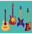 Set of different guitars vector image