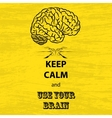 Keep calm and brain vector image