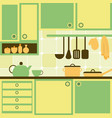 with kitchen vector image