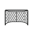 Hockey gates black simple icon vector image