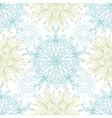 Abstract plants mandalas seamless pattern vector image