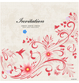 invitation art vector image