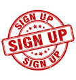 sign up stamp vector image