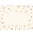 Christmas and winter background with snowflakes vector image vector image