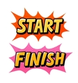 Start Finish pop art comics icon Speech bubble vector image