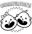 Baby congratulations doddle vector image