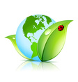 Green Earth Icon vector image vector image