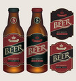 beer labels for two glass bottles vector image