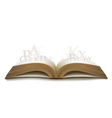 Realistic book with letters vector image vector image