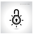 Creative light bulb idea concept with padlock sign vector image
