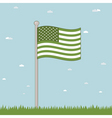 green USA vector image