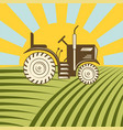 agricultural vehicle tractor or harvester machine vector image