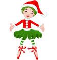 little christmas ballerina vector image