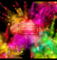 paint powder smoky explosion vector image