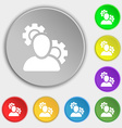 Profile Setting Icon sign Symbol on eight flat vector image