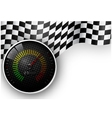 Speed Meter and Checkered Flag Background vector image