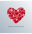 Valentine Day Card with Heart vector image
