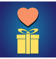 gift box heart vector image