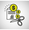 financial crisis money icon graphic vector image