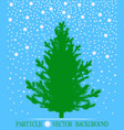 abstract falling snow particles and new year vector image