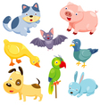 Cute animals set vector image vector image