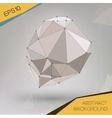 Abstract geometric spherical shape vector image vector image