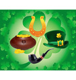 items to St Patrick's day vector image
