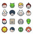 Social characters vector image