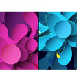 Set of two abstract mobile phone backgrounds with vector image vector image