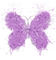 abstract butterfly on grunge splash vector image