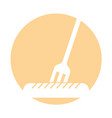 fork with sausage fast food vector image