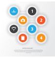 hardware icons set collection of network vector image