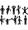ICONS MAN SHOW vector image