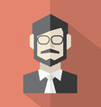 Modern Flat Design Businessman Icon vector image