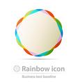Rainbows business icon vector image