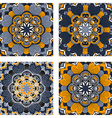 Set of colorful abstract circular floral patterns vector image