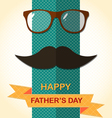 Father Day card with spectacles vector image